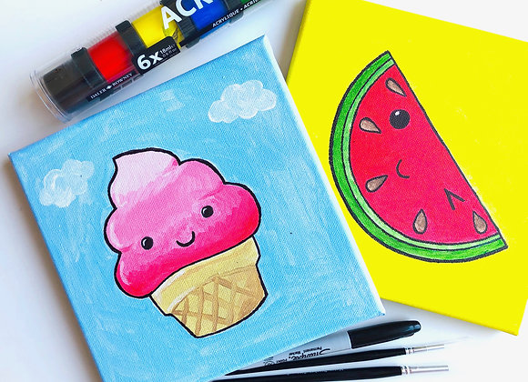 Kawaii acrylic canvas painting kit