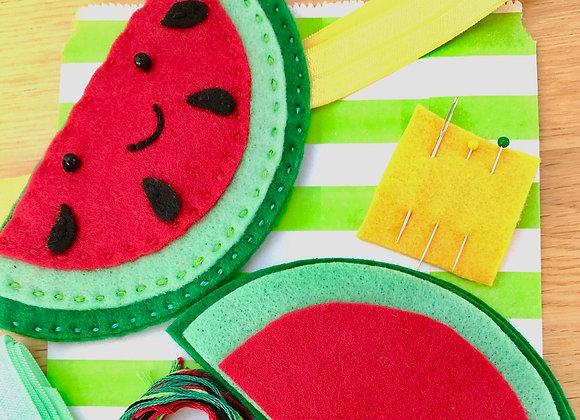 sew a watermelon bookmark kit