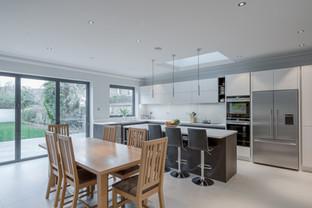 Open plan living space, Barnes