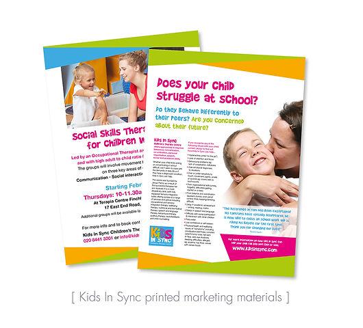 Kids In Sync leaflets