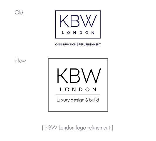 KBW London logo design