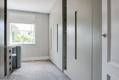 Cabinetry in dressing room, Oxshott