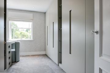 Cabinetry in dressing room, Oxshott