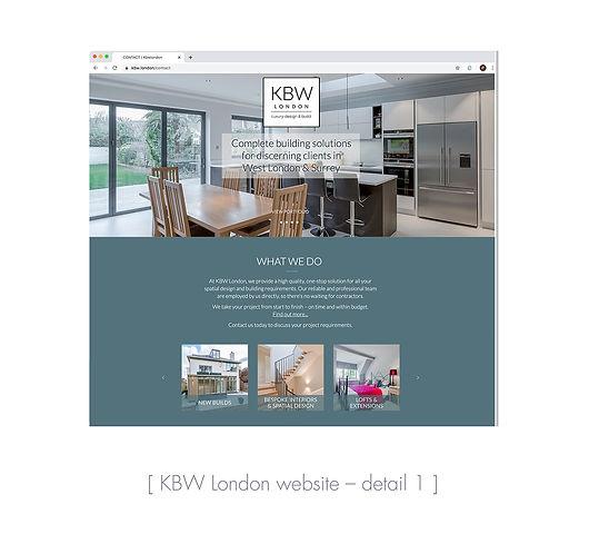 KBW London website detail