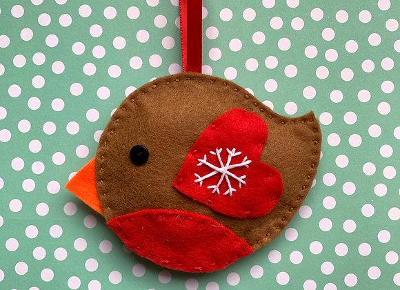 sew a robin tree decoration