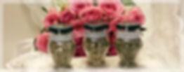Rosor  med ram till slide tre kryddburka