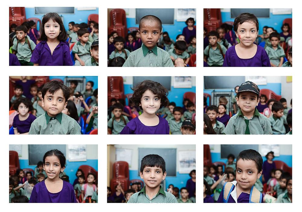 Students at Al-Zohra primary school