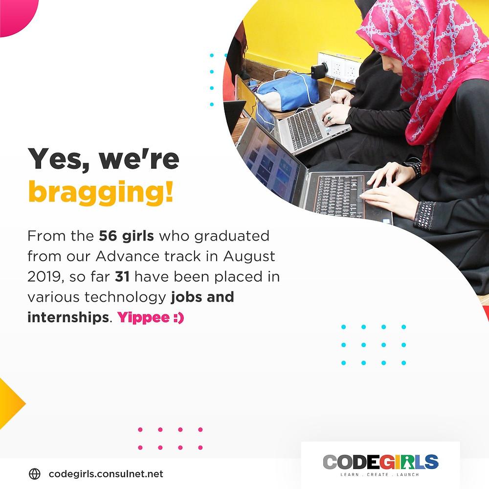 CodeGirls bootcamp impact