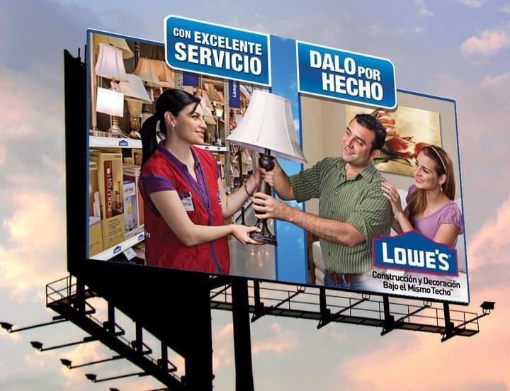 Billboard Lowes Incubo Branding