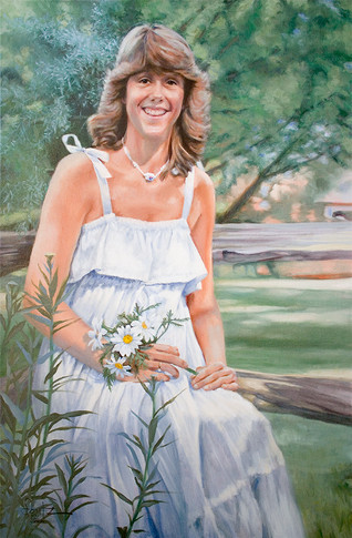 "The White Sun Dress, 24"" x 36"""