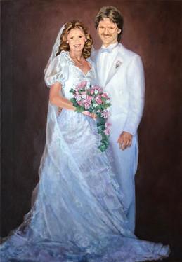 "Thompson Wedding, 1984, 30.25"" x 42.25"""