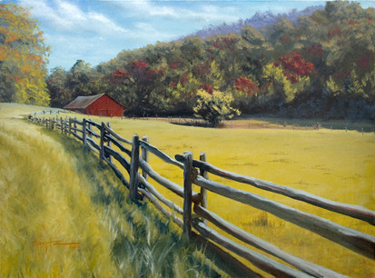 "Barn on the Blue Ridge Parkway 20"" x 16"""