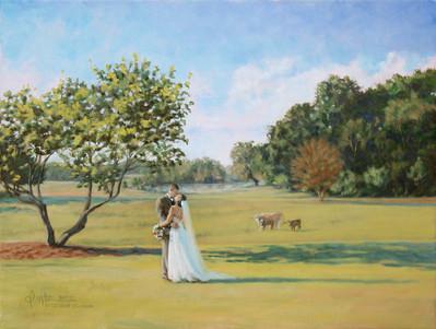 """Brookie & Kelsey Wedding, 24"""" x 18"""""""
