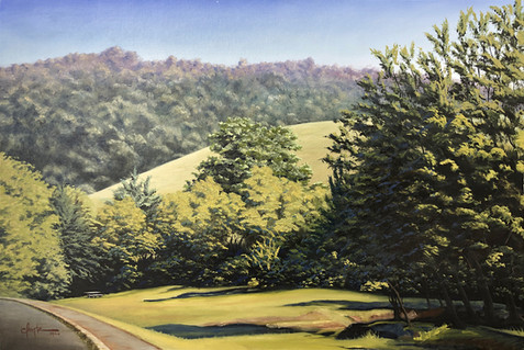 "Dining on the Blue Ridge Parkway, 36"" x 24"""