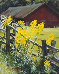 "Goldenrod on the Parkway, 8"" x 10"""