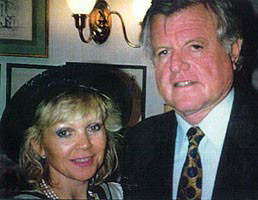 With Senator Edward Kennedy at the Kennedy Museum, Washington D.C., 1995