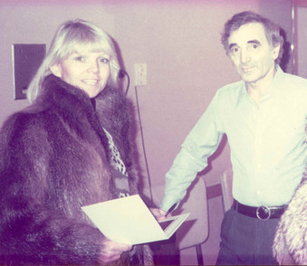 Lea with Charles Aznavour