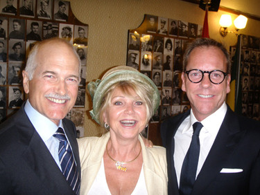 Jack Layton and Kiefer Sutherland at the Tommy Douglas unveiling September 2010