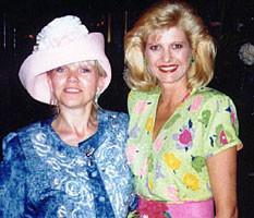 Lea with Ivana Trump