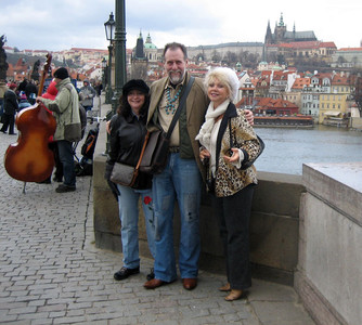 Lea with Mr. and Mrs. Prussin in Prague