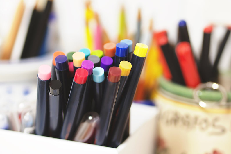 des stylos