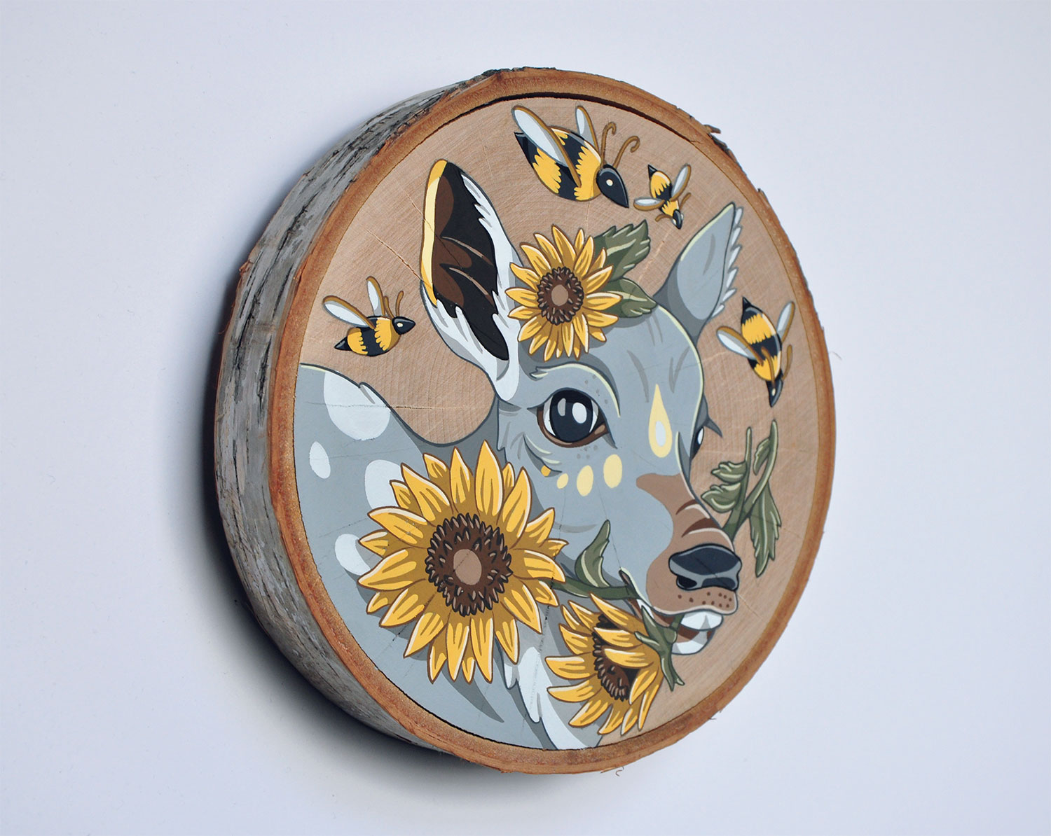 """Fawn with Sunflowers"""