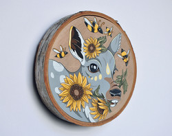 """""""Fawn with Sunflowers"""""""