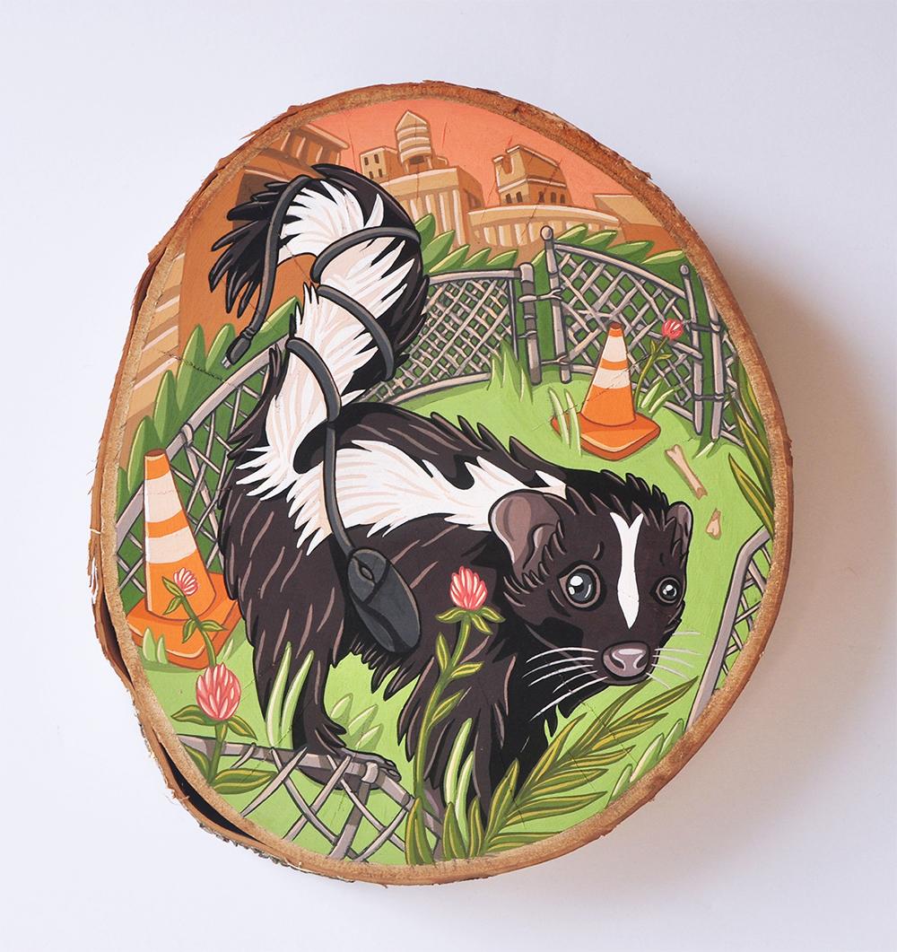 """Skunk in Gowanus"""