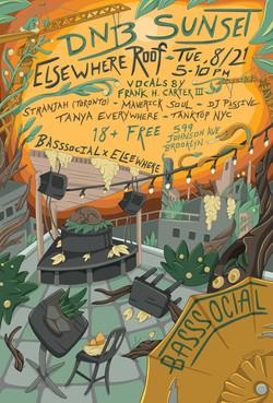 Flyer for Basssocial's music event