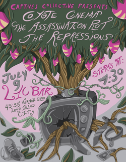Poster for a music event at LIC Bar