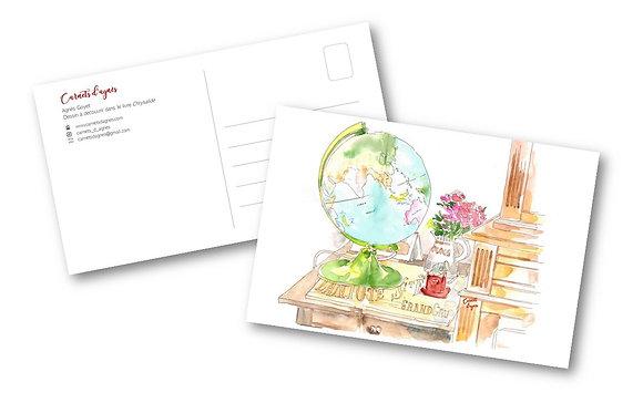 Carte postale - Mappemonde