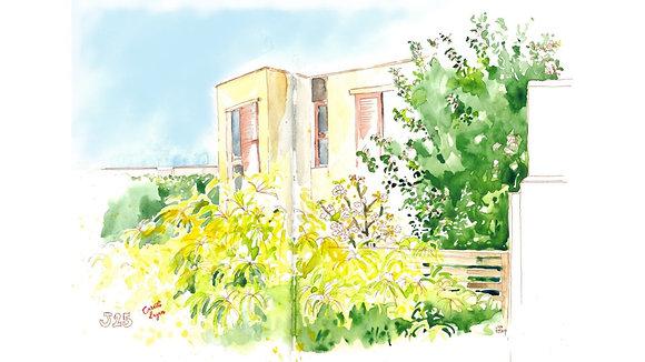 Dessin - Un jardin en ville
