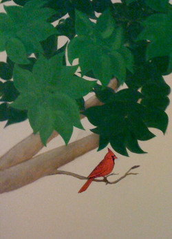 Cardinal in Tree