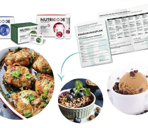 Nutricode Nahrungsergänzungsmittel und Fit 6 Ernährungspläne