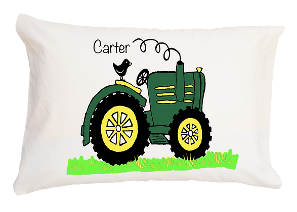 Tractor w/Custom Name Travel Pillow