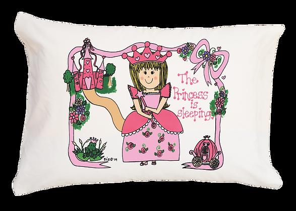 The Princess is Sleeping w/Custom Name Travel Pillow