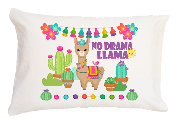 No Drama Llama! w/Custom Name Standard Pillowcase