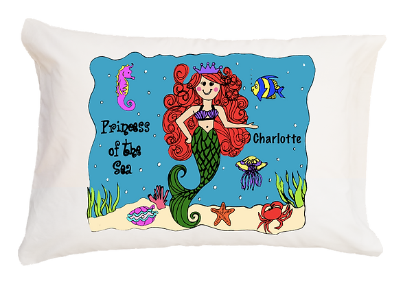 Mermaid w/Custom Name Travel Pillow