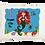 Thumbnail: Mermaid w/Custom Name Travel Pillow