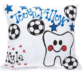 Soccer Tooth Pillow