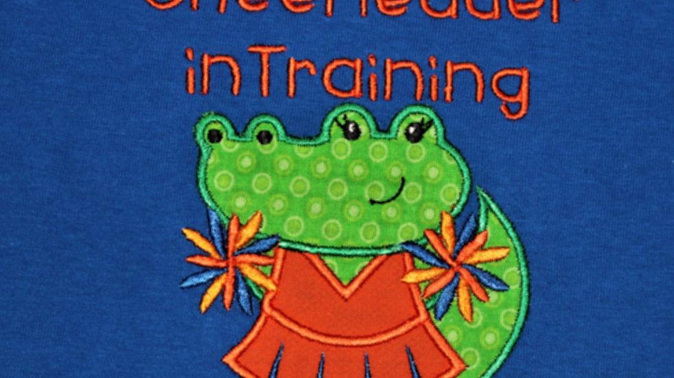Cheerleader Alligator orange and blue gator shirt football shirt