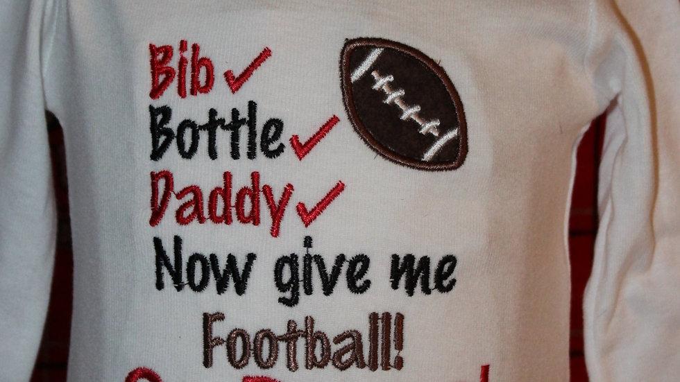 Choose your team! Customize colors baby boy football bodysuit