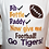 Thumbnail: Bib bottle Daddy football bodysuit purple and gold Tiger bodysuit