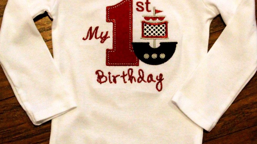Pirate 1st birthday bodysuit Pirate first birthday shirt boy 1st birthday