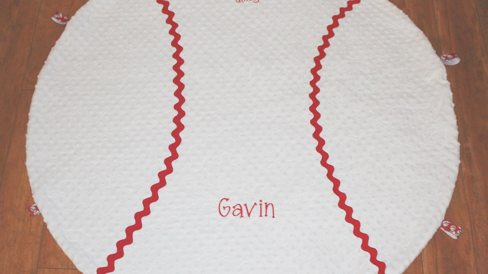 White minky baby boy baseball blanket personalized boys baseball outfit