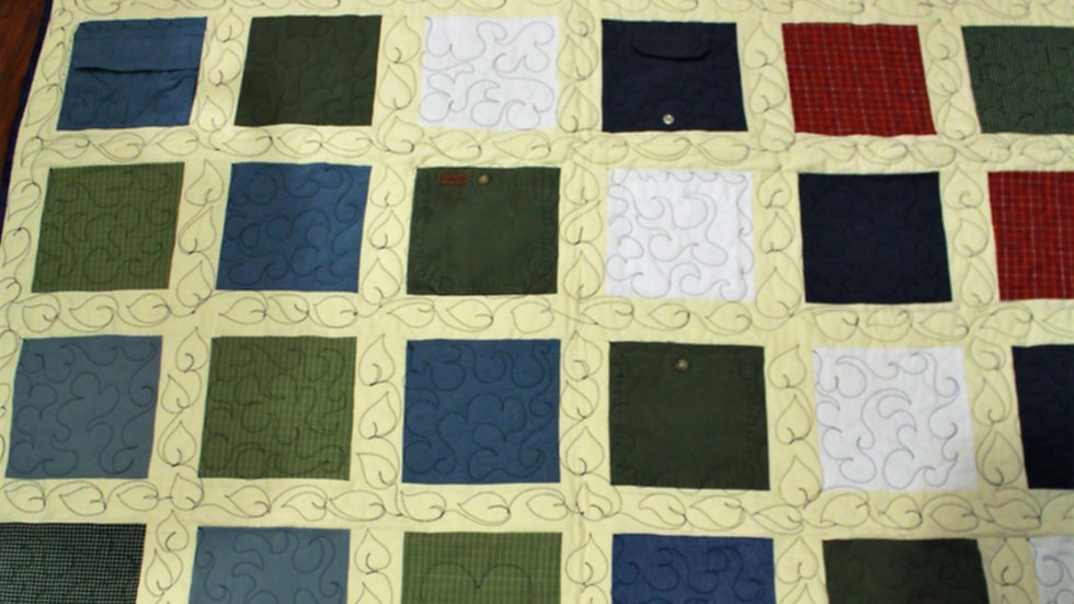 Memory quilt made from Dad's shirts memory quilts from clothing