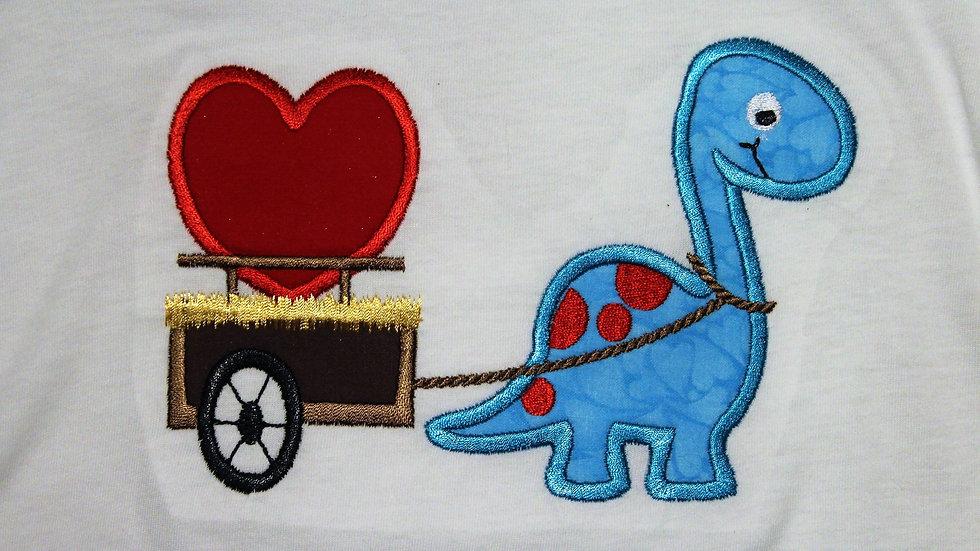 Dinosaur Valentine's Day shirt for boy or girl