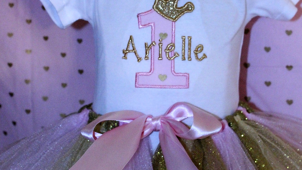 Personalized Princess baby girl 1st birthday first birthday crown