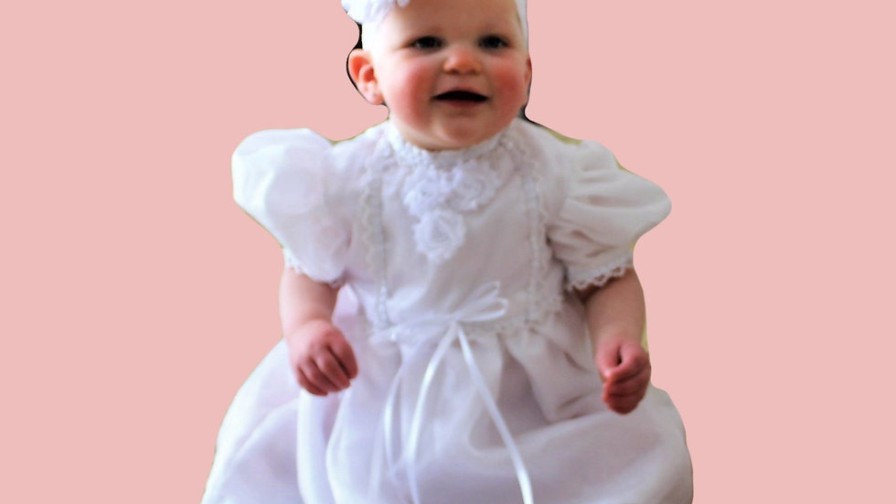 Baby girl baptism dress white white satin baptism quilt