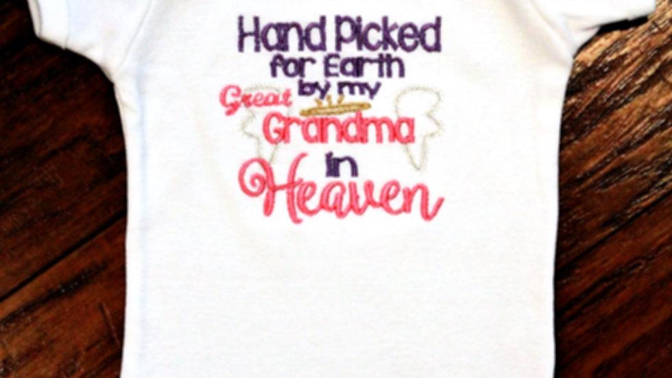 Handpicked for Earth baby bodysuit baby shower gift baby girl gift